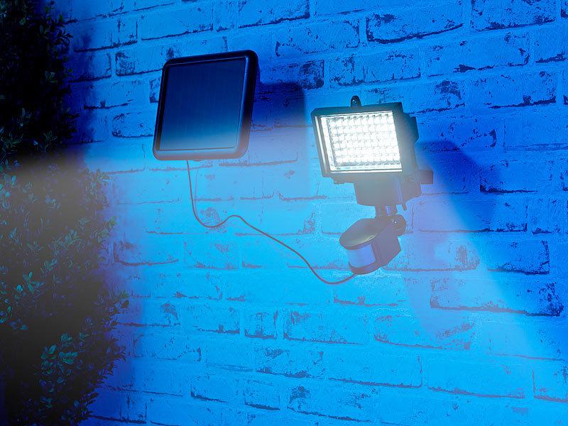 luminea solarlampe solar led wand fluter f r au en mit bewegungssensor 600 lumen ip44. Black Bedroom Furniture Sets. Home Design Ideas