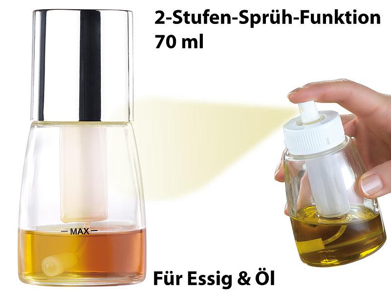 Rosenstein & Söhne Dekorative Essig- & Öl-Sprühflasche mit 2 ...