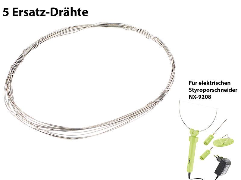 AGT Styroporschneider: 5 Ersatz-Drähte für ES-300, 100 cm ...