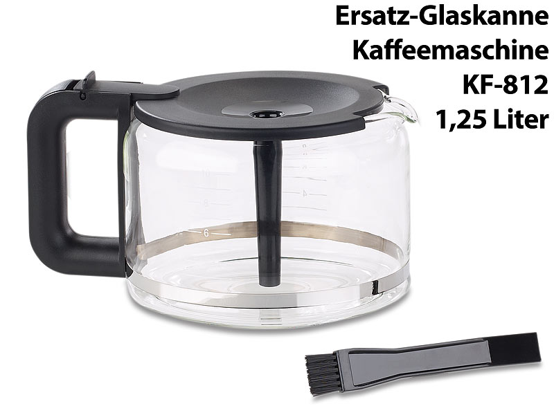 rosenstein s hne kaffee vollautomat ersatz glaskanne f r filter kaffeemaschine kf 812 f 1 25. Black Bedroom Furniture Sets. Home Design Ideas