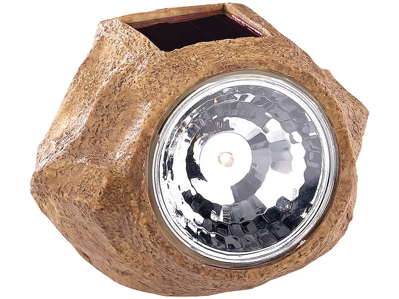 royal gardineer solar led gartenlicht in stein optik wechselbarer akku 5 lumen ip44. Black Bedroom Furniture Sets. Home Design Ideas