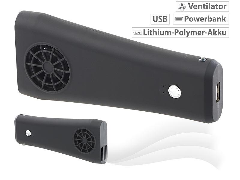 revolt Ventilator Hand: 2in1 Taschen Ventilator und USB