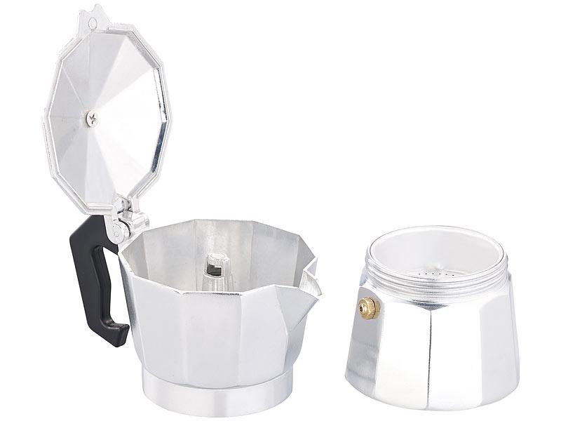 cucina di modena kaffeekocher espresso kocher f r 3 tassen f r gas elektro herd und ceran. Black Bedroom Furniture Sets. Home Design Ideas