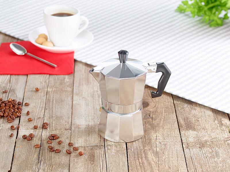 cucina di modena kaffekocher espresso kocher f r 3 tassen f r gas elektro herd und ceran feld. Black Bedroom Furniture Sets. Home Design Ideas