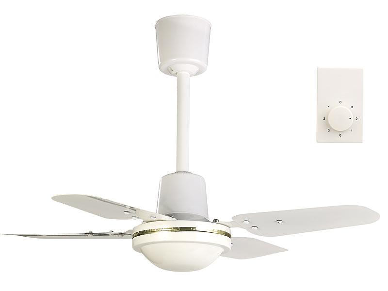 sichler ventilator decke kompakter deckenventilator 4 metallfl gel 3 stufen 61 cm 70 watt. Black Bedroom Furniture Sets. Home Design Ideas