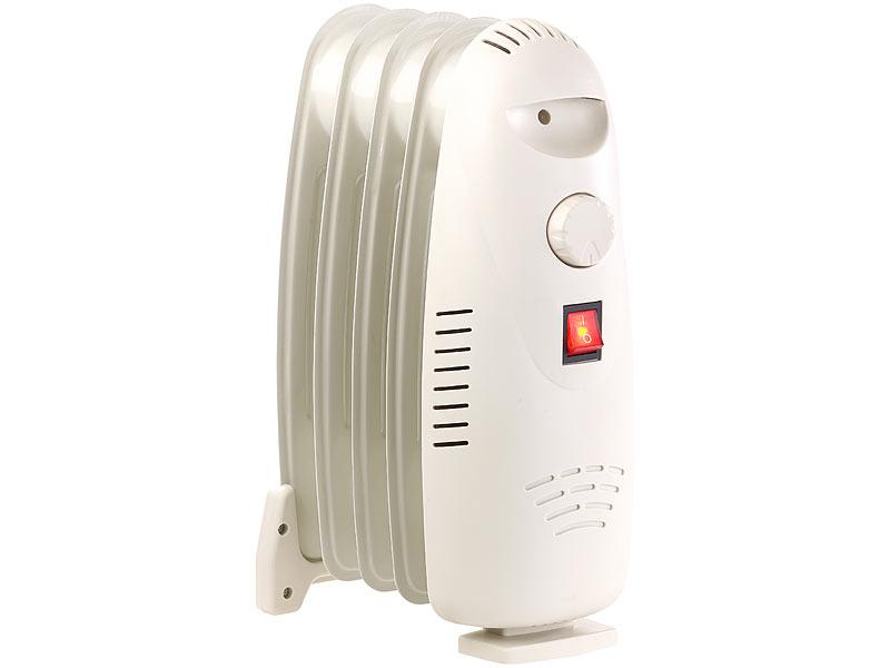 sichler heizk rper l radiator elektroheizung mit 5 rippen und thermostat 500 watt heizradiator. Black Bedroom Furniture Sets. Home Design Ideas