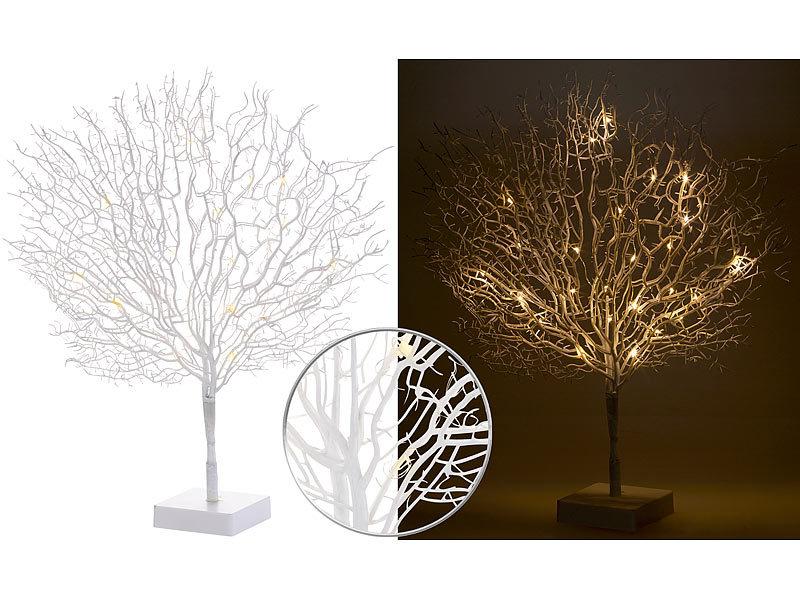 Lunartec LED Deko: Moderner Lichterbaum mit 25 warmweißen LEDs, 50 ...
