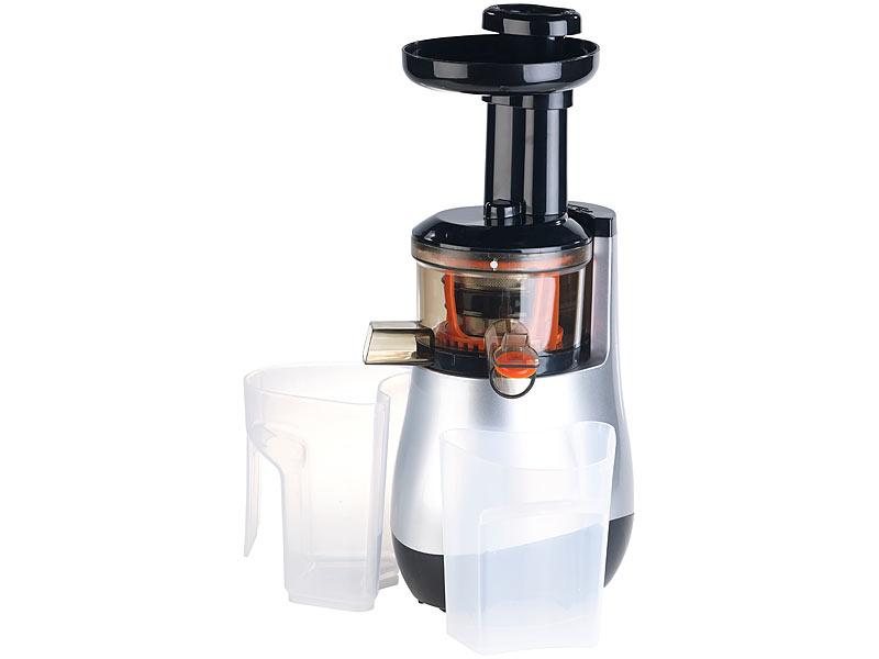 Nutrilovers Slow Juicer Elektrischer Entsafter : Rosenstein & Sohne Kalt-Entsafter: Elektrischer Slow Juicer, 60 Umdrehungen/Min., leiser Motor ...