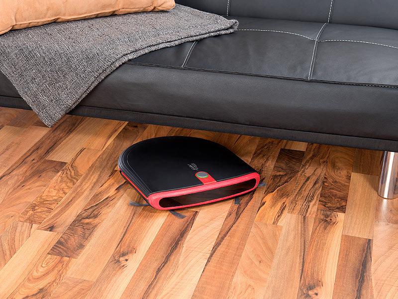 sichler ultraflacher reinigungs staubsauger roboter 120 min akku laufzeit. Black Bedroom Furniture Sets. Home Design Ideas