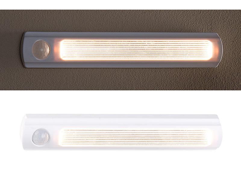 luminea led unterbauleuchten 4er set batterie led schrankleuchten pir lichtsensor 6000k 0. Black Bedroom Furniture Sets. Home Design Ideas