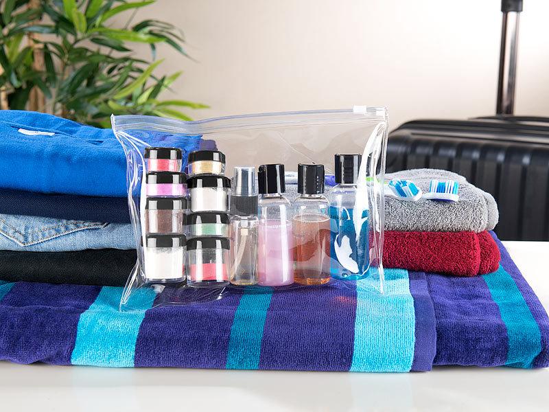 sichler beauty reiseflaschen sets rei verschluss tasche. Black Bedroom Furniture Sets. Home Design Ideas