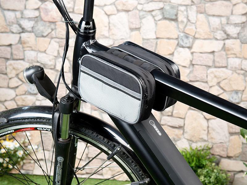 Xcase Fahrrad Rahmentaschen: Wetterfeste Fahrrad-Rahmen-Tasche aus ...