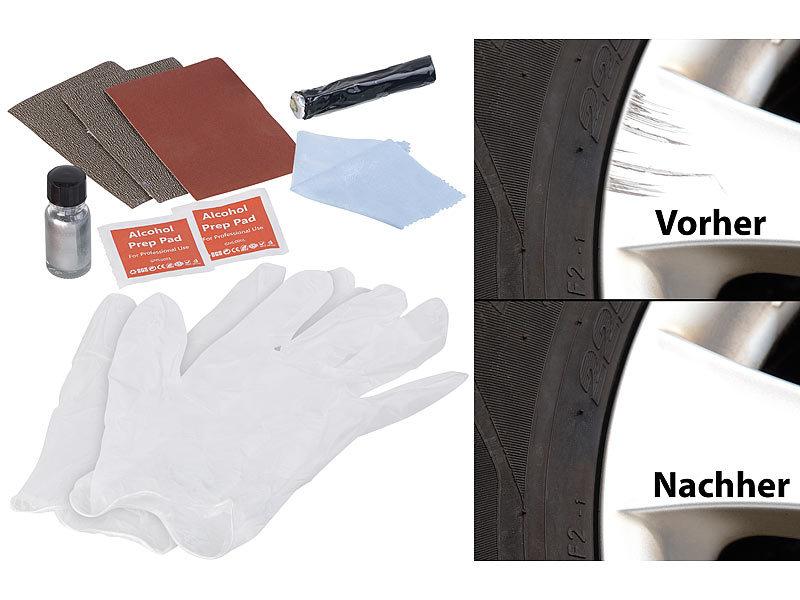 agt felgen reparaturset reparatur kit kratzer entferner langzeit schutz f r alufelgen co. Black Bedroom Furniture Sets. Home Design Ideas
