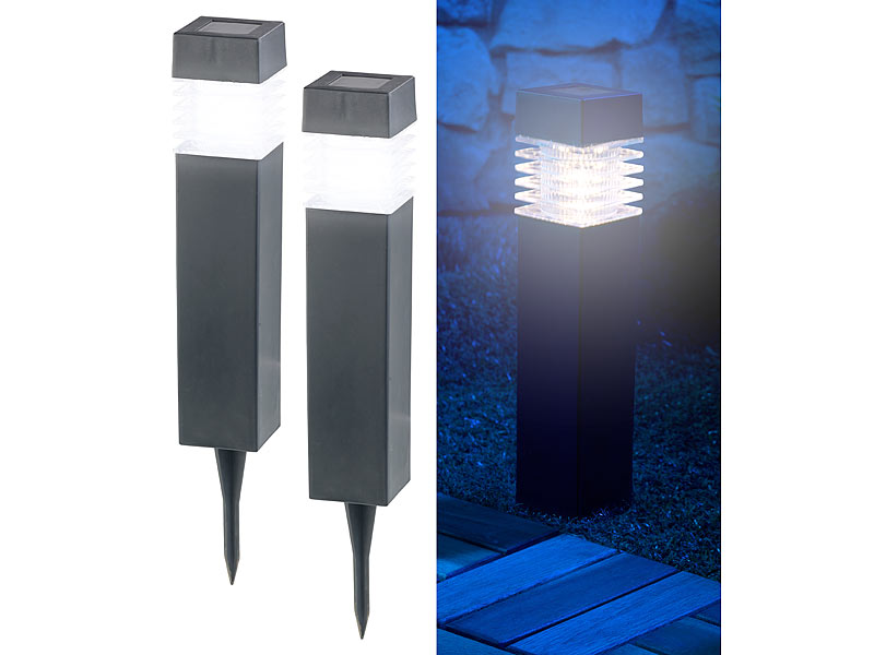lunartec led gartenleuchten 6er set moderne solar led wegeleuchten mit d mmerungs sensor led. Black Bedroom Furniture Sets. Home Design Ideas