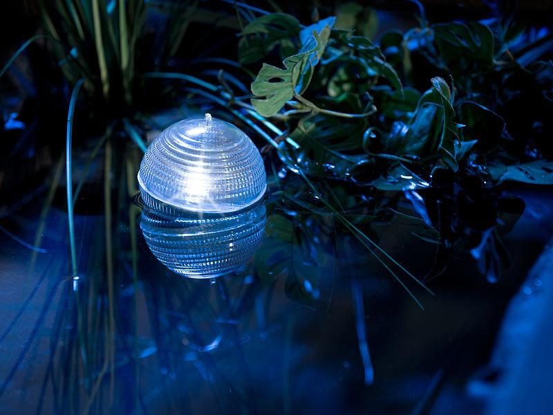 lunartec schwimmende solar led kugelleuchte f r gartenteich pool 8 cm. Black Bedroom Furniture Sets. Home Design Ideas