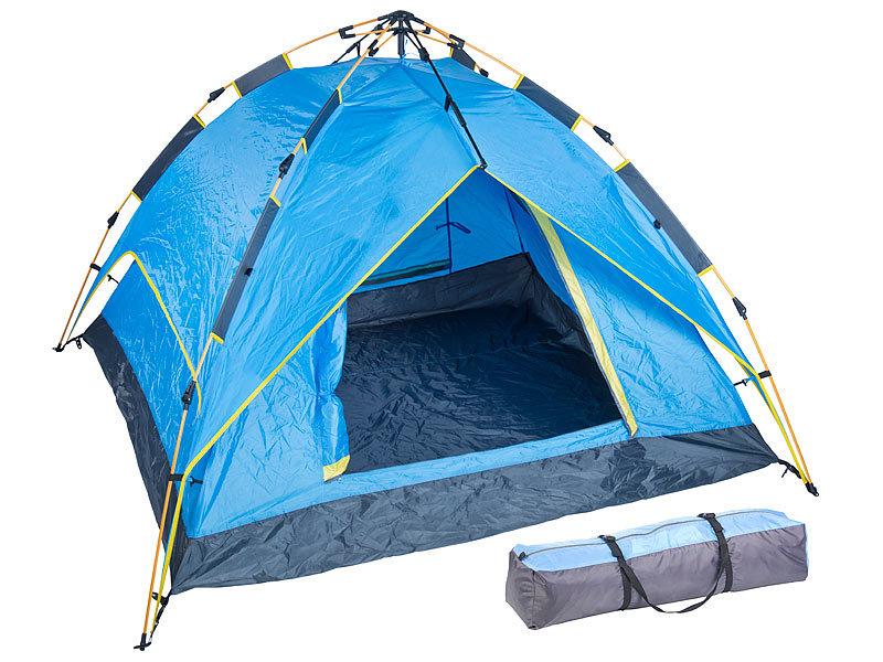 semptec zelte automatik kuppelzelt f r 3 4 personen mm wassers ule campingzelt. Black Bedroom Furniture Sets. Home Design Ideas