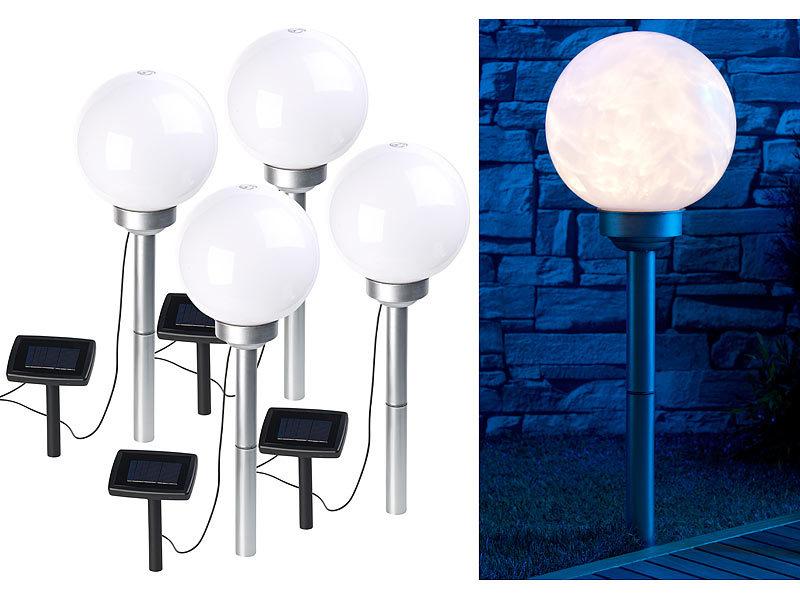 lunartec leuchtkugel solar 4er set solar led leuchtkugeln. Black Bedroom Furniture Sets. Home Design Ideas