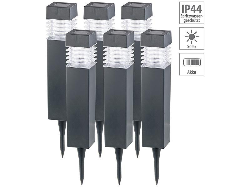 2er-Set moderne Solar-LED-Wegeleuchten mit Dämmerungs-Sensor LED Gartenleuchte