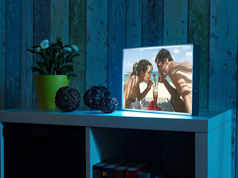 infactory lightbox led leuchtkasten f r individuelle bilder auf folie und papier din a4. Black Bedroom Furniture Sets. Home Design Ideas