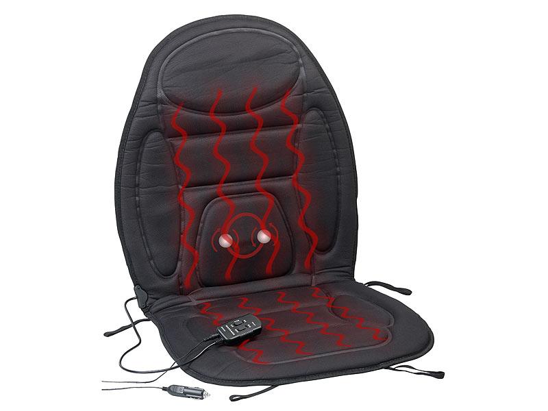 lescars sitzheizung 2in1 kfz sitzauflage mit massage und. Black Bedroom Furniture Sets. Home Design Ideas