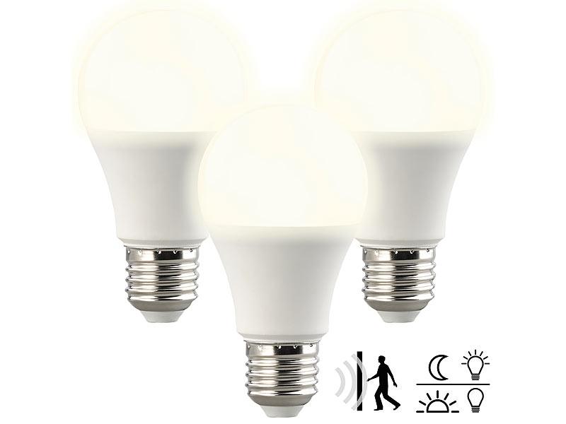 4er Set Leuchtmittel E27 Sockel 5 Watt SMD-LED warmweiß 350 lm Licht 3000 Kelvin