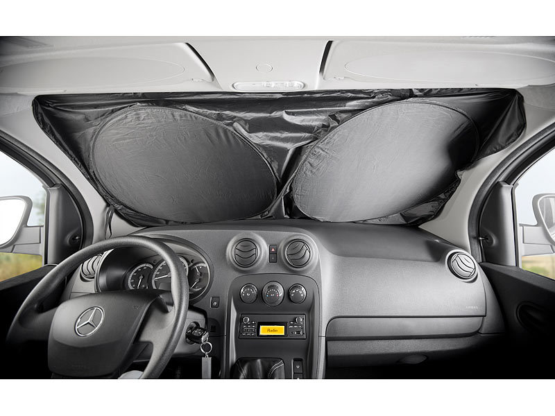 infactory auto sonnenschutz 2er set universal sonnenschutzfolie f r die windschutzscheibe. Black Bedroom Furniture Sets. Home Design Ideas