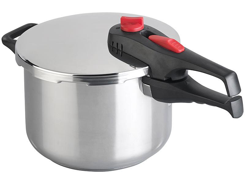 Edelstahl Schnellkochtopf 5L auch Induktion Schnellkocher Kochtopf Topf 5 L