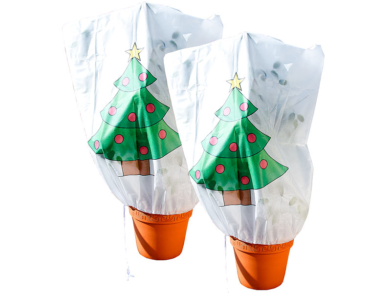 infactory k lteschutz f r pflanzen 2er set winterschutz haube weihnachtsbaum f r pflanzen. Black Bedroom Furniture Sets. Home Design Ideas