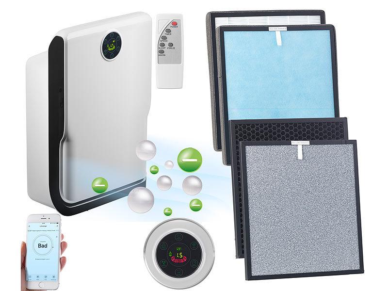 Sichler Luftreiniger mit Filter: 6-Stufen-Luftreiniger mit UV-Licht ...