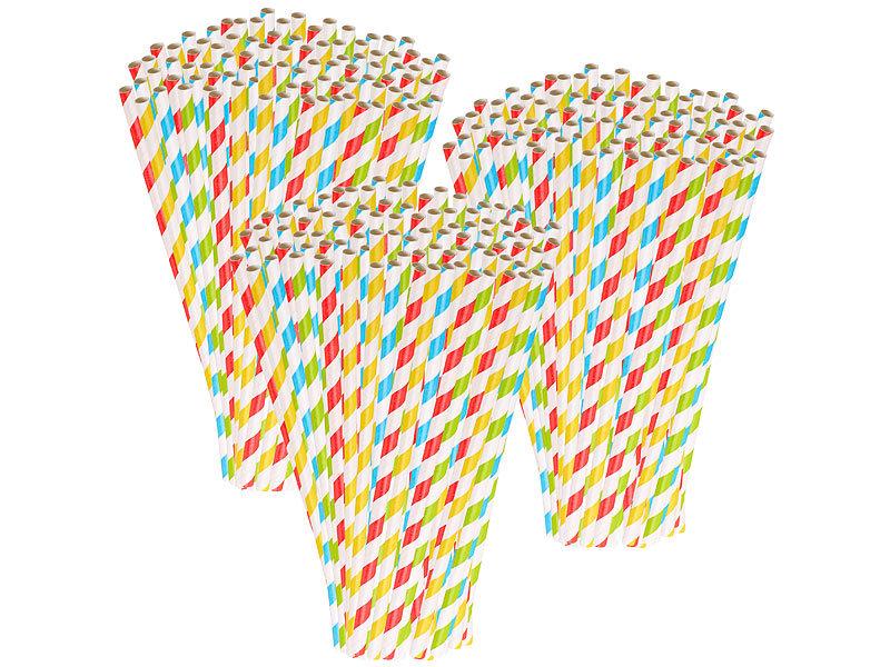 Trinkhalm Aus Papier 100 Stück Rot Weiß Strohhalme Papierstrohhalme Nachhaltig Möbel & Wohnen
