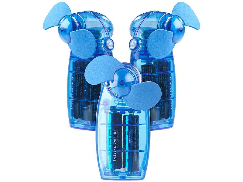 pearl mini handventilator batterie betriebener mini hand und taschen ventilator blau 3er. Black Bedroom Furniture Sets. Home Design Ideas