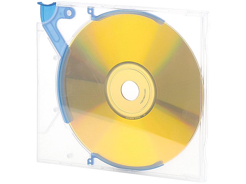 cd dvd h llen kickout slim 10er pack transparent blau. Black Bedroom Furniture Sets. Home Design Ideas