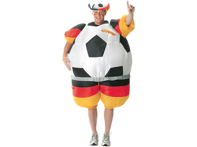 Playtastic Kostum Fussball Selbstaufblasendes Fan Kostum
