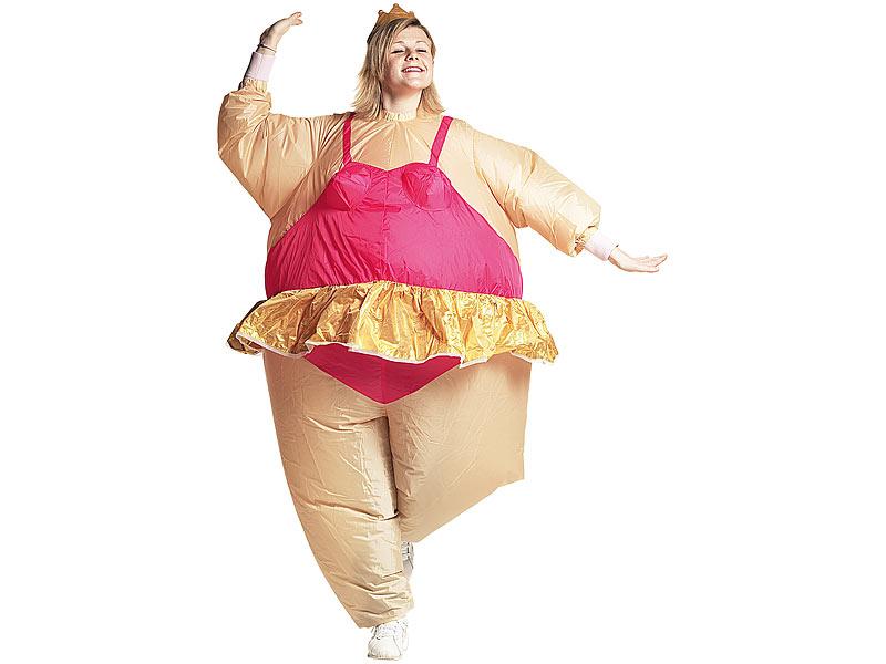 Playtastic Frauen Kostum Selbstaufblasendes Kostum Ballerina