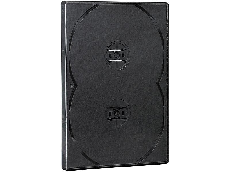 cd dvd soft h lle f r 4 dvds 50er set schwarz. Black Bedroom Furniture Sets. Home Design Ideas