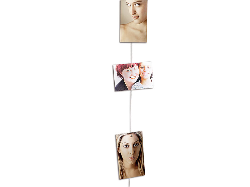 your design magnetische foto leine mit 8 mini magneten. Black Bedroom Furniture Sets. Home Design Ideas