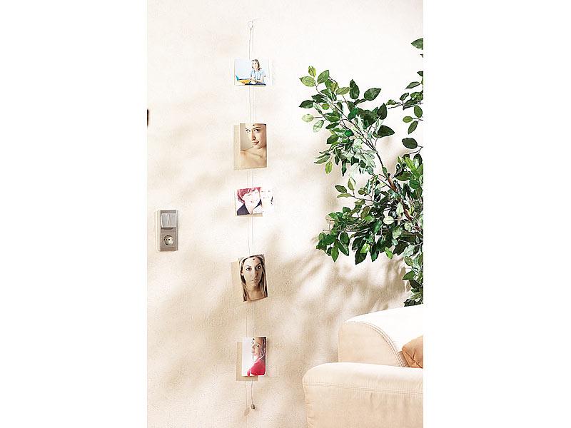 Your Design Fotoleine: Magnetische Foto-Leine mit 8 Mini-Magneten ...