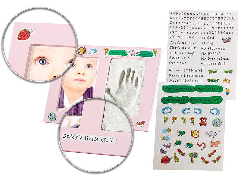 Your Design Großer Baby-Hand- und Fußabdruck-Bilderrahmen \
