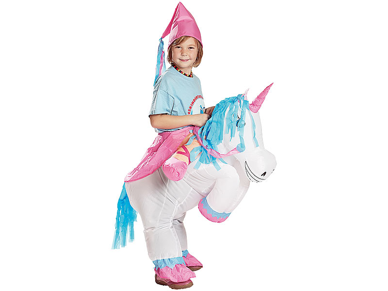 Playtastic Selbstaufblasendes Kinder Kostum Einhorn