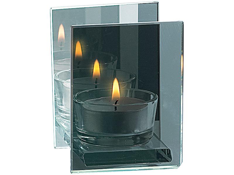 rosenstein s hne teelichthalter aus verspiegeltem glas. Black Bedroom Furniture Sets. Home Design Ideas