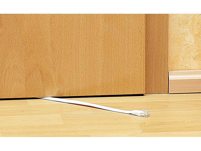 fibrionic netzwerk flachkabel netzwerk kabel cat5e flach wei 3m rj45 kabel. Black Bedroom Furniture Sets. Home Design Ideas