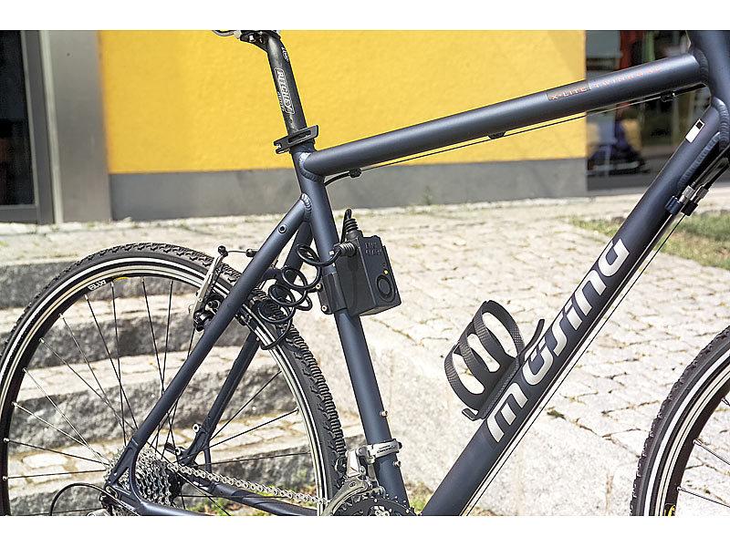 VisorTech Fahrrad-Diebstahl-Alarm mit Stahlschloss