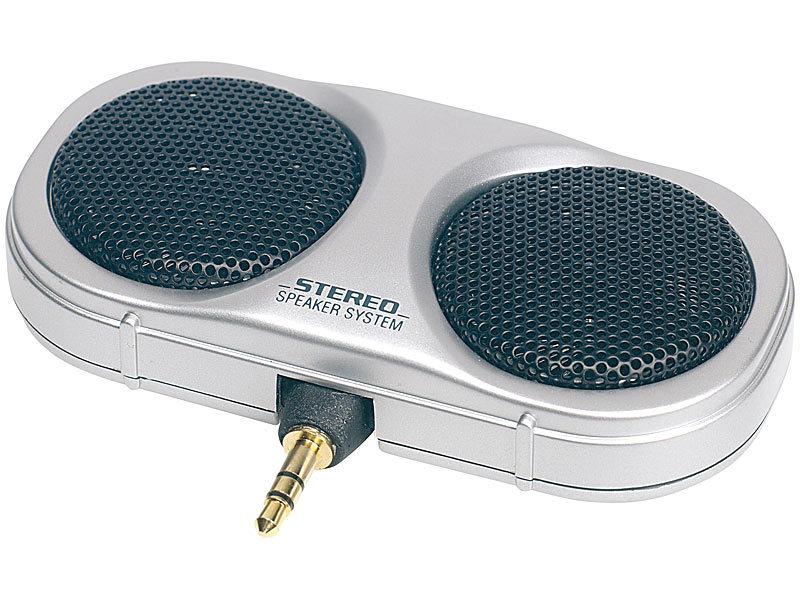 Q-Sonic Mobiler, passiver Mini-Lautsprecher für MP3-Player, CD-Player