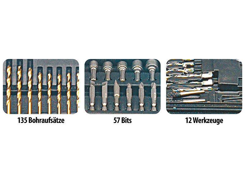 agt profi bohrer bit set 204 teilig chrom vanadium inkl magnet adapt. Black Bedroom Furniture Sets. Home Design Ideas