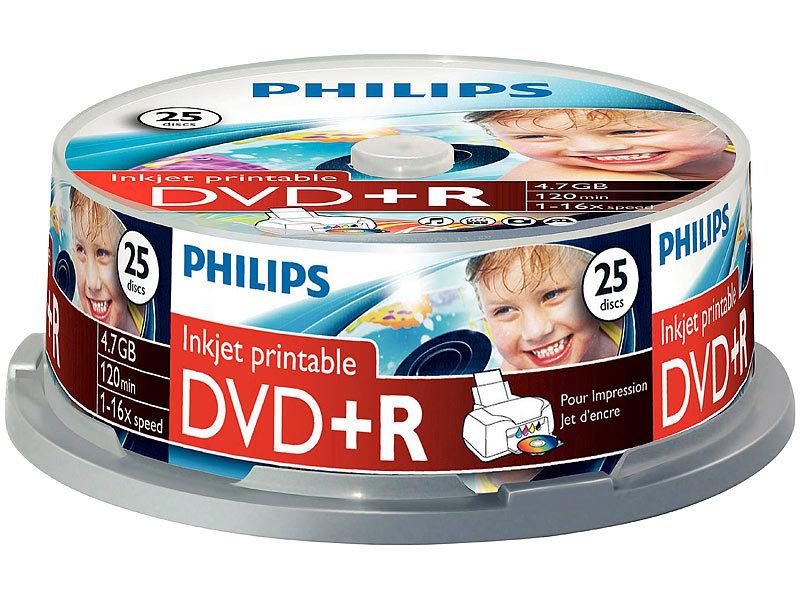 philips dvd r 4 7gb 16x printable 50er spindel. Black Bedroom Furniture Sets. Home Design Ideas