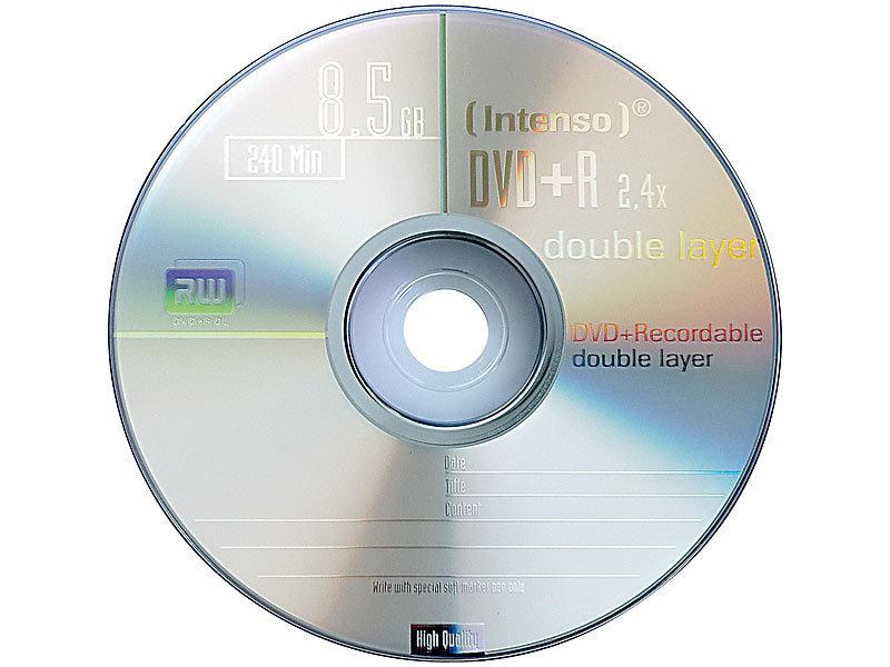 intenso dvd r 8 5gb 8x double layer 50er spindel. Black Bedroom Furniture Sets. Home Design Ideas