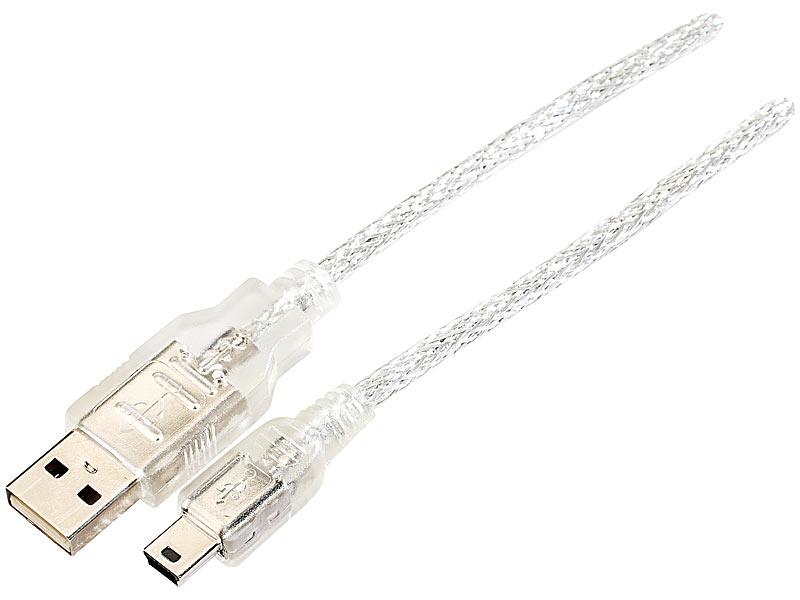 USB-Anschlusskabel USB-A-Stecker auf Mini-USB 5-Pin, 1,8 Meter