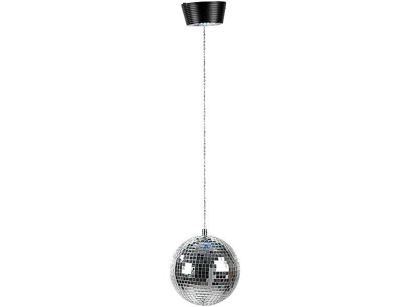 lunartec spiegelkugelmotor disco kugel classic mit farbwechsel leds u motor discokugel motor. Black Bedroom Furniture Sets. Home Design Ideas