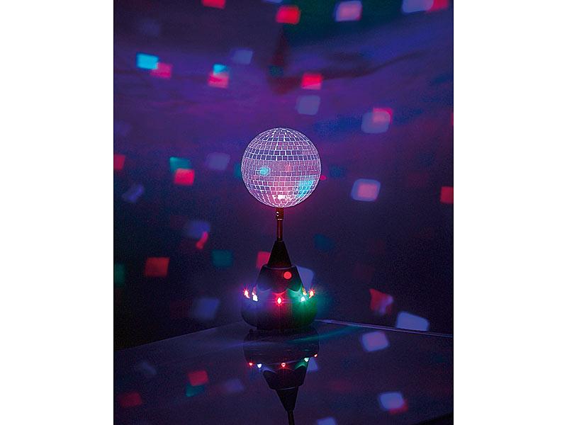... Lunartec Farbwechsel LED Discokugel Mit Motor Und Ständer Lunartec  Discokugeln ...