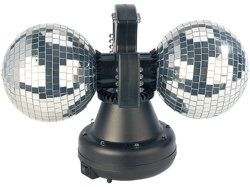 lunartec dicokugel farbwechsel discokugel double m 32 leds motor led disco kugel. Black Bedroom Furniture Sets. Home Design Ideas
